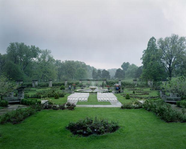 mike sinclair rained out wedding rose garden loose park kansas